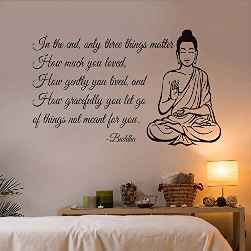 Solo tres cosas importan yoga gimnasio decoración buda etiqueta de la pared...