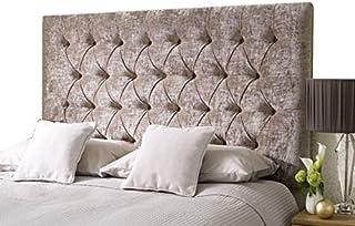 H-Cube meble Chesterfield Divan łóżko podstawa zagłówek zgnieciony aksamit dopasowanie/diamentowe guziki różne wysokości z...