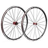 BUCKLOS Ensemble de roues de vélo de route 700 C en alliage d'aluminium avec frein en V et rayons...