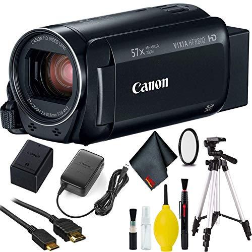 Canon VIXIA HF R800 Camcorder (Black) w/Tripod