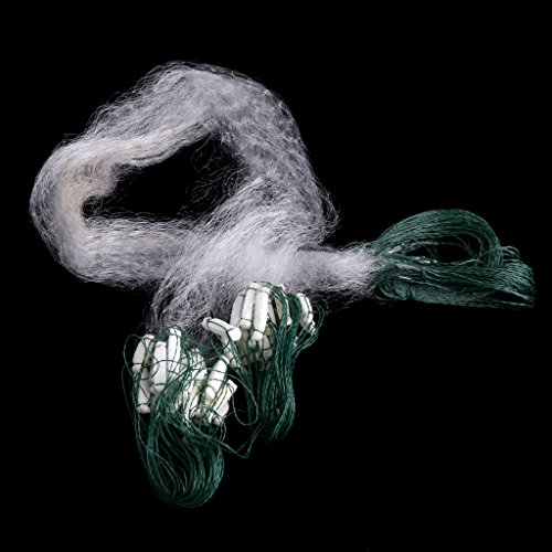Clear White Finished Fishing Net With Float Monofilament Small Mesh Gill 8m