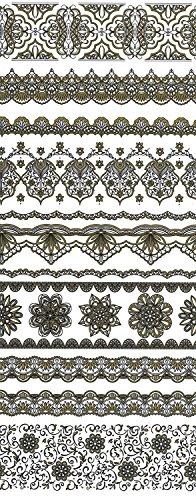 ukrainisches-kunsthandwerk Ostereier Folie.Bordüre. Gold Malerei. Gold/Schwarz Nr.91 reicht für 7 Eier