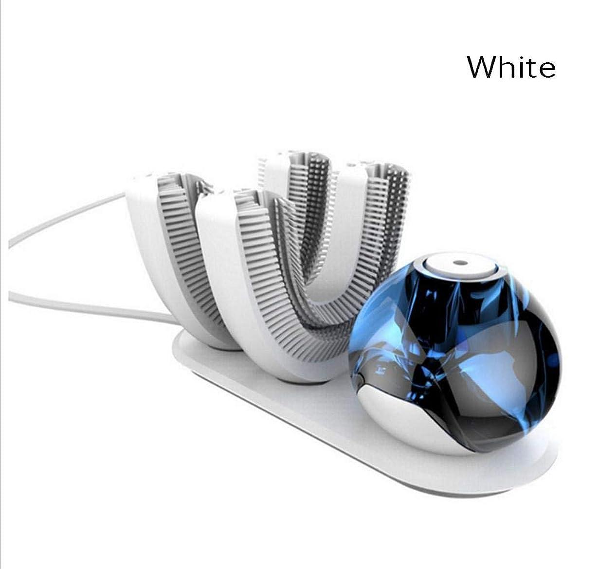調整可能飛ぶ他に自動歯ブラシ、電動歯ブラシワイヤレス充電式360度自動歯ブラシ、怠惰用(ホワイト)