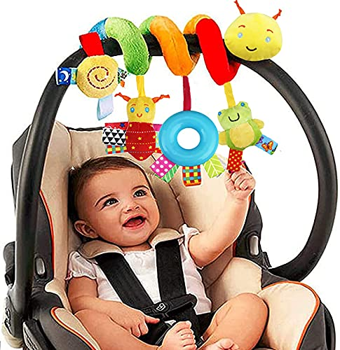Sirecal Spiral Hanging Toys for Babies Wrap-Around Pram Pushchair Stroller/Car Seat/Crib Sensory Early Education Play Toy, Activity Spiral Toy for Toddler Infant Boys Girls