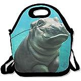 N / A Baby Hippo Lunch Bag Tote Handbag Loncheras para Adultos, niños, niñas y Mujeres