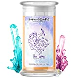 Gemini   Zodiac Star Signs Jewelry Candle 21oz   Surprise Prize Valued at $15 - $7,500 Inside   Choose From 30+ Scents   Cinnamon Apple   Bracelet