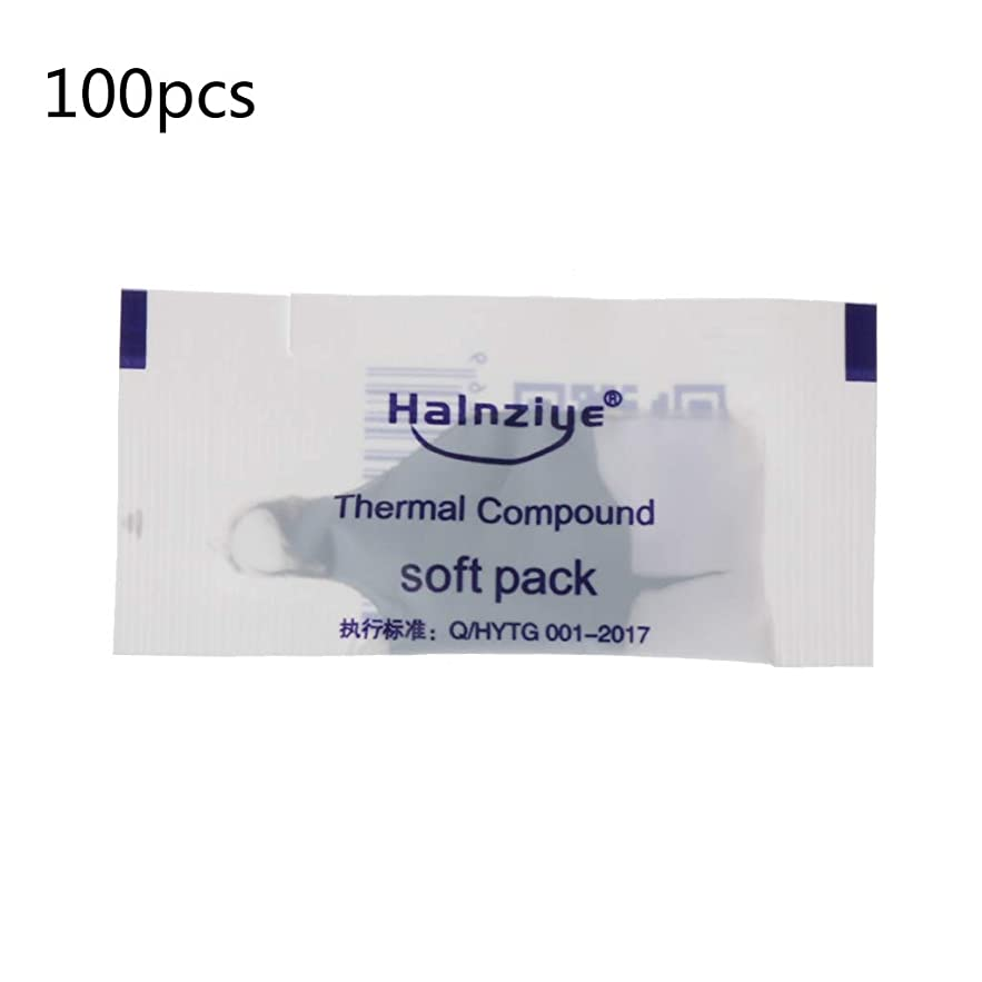 Yuly 100Pcs Thermal Grease Paste Compound Silicon CPU Heat Sink Processor Cooling Paste Silicone Thermal Grease