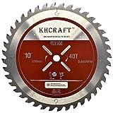 KHCRAFT Laser-Cut Circular Saw Blade Miter Saw Blade Table Saw Blade 10 Inch 40 Teeth ATB Thin Kerf 5/8 Inch Arbor General Purpose Precision Finishing for Woodworking