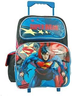 Large Rolling Backpack - DC Comic - Superman - Man of Steel Bag New 629182