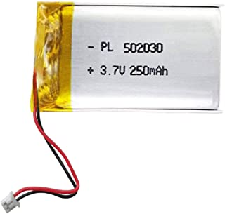 AOLIKES 3.7V Replacement Lithium Polymer Battery 250mAh - PL 502030 JST- PH1.25 for Drone RC Quadcopter, Bluetooth Headset, Mini DVR, Keychina Cam Small Camera C3,GPS,MP3 and More