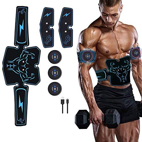 YST Elektrische Muskelstimulation USB Wiederaufladbarer Bauchmuskeltrainer, 6Simulationsmodi Fitnessgeräte Muskelstimulation für, Sofortiger elektrischer Stimulator Bester Bauchmuskeltrainer