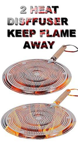 Flame Tamer SIMMER Ring Aluminum HEAT Diffuser DISTRIBUTER gas stove...