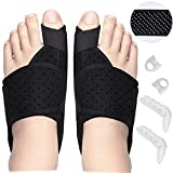 Bunion Corrector Big Toe Bunion Pain Relief Set, Bunion Splint Adjustable Band Bunion Corrector For Women Men with Aluminium Plate Relief Kit For Toe Straightener, Toe Spacers,Toe Separators