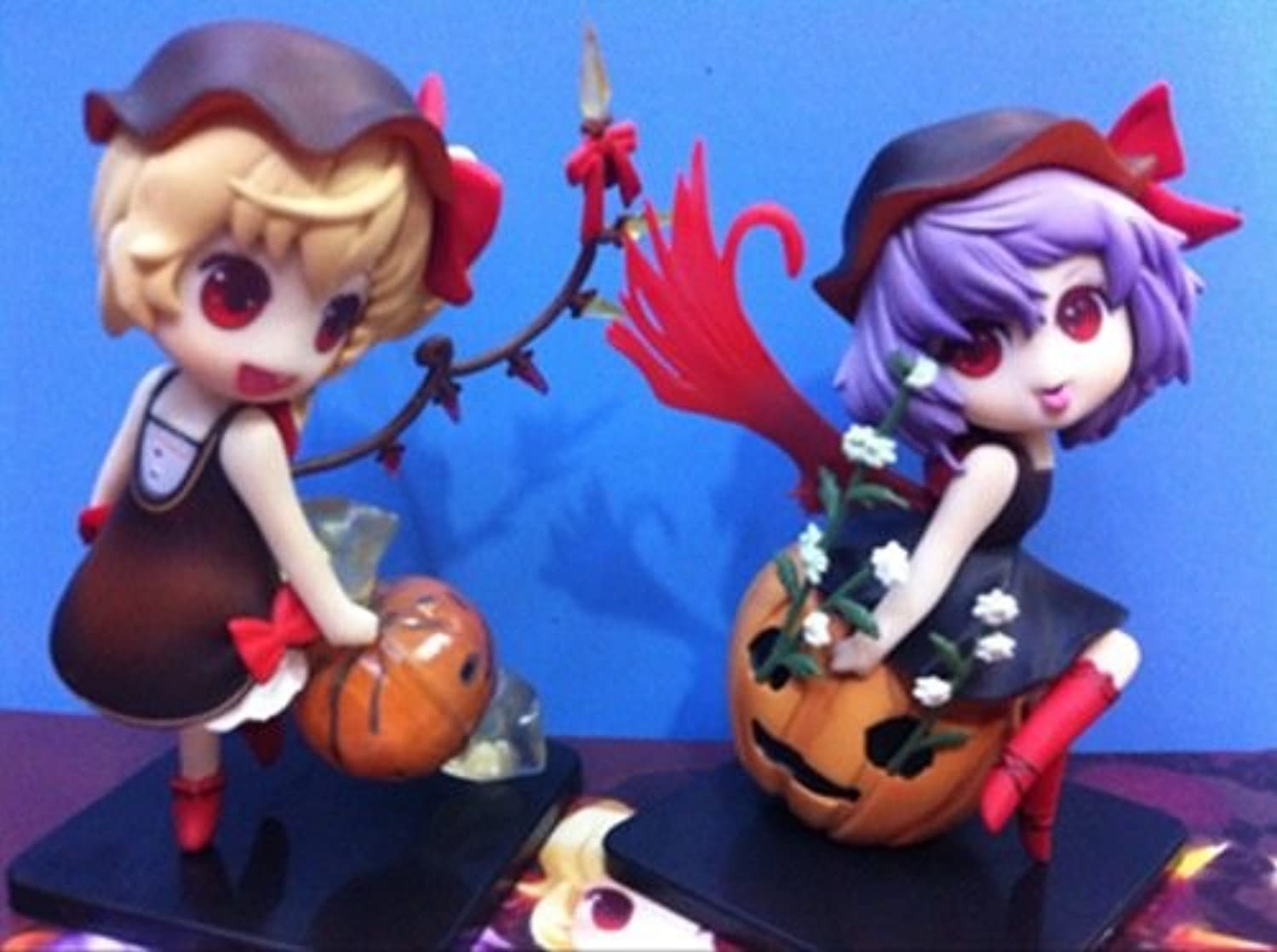 Allegro Huyer 12cm Japanese Anime Figure Touhou Project Remilia Scarlet Flandre Scarlet Halloween VER Action Figure Collectible Model Toys