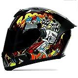 LKOP Casco De Motocicleta Modular Flip hacia Arriba, Four Seasons Motorbike Modular Crash Casco Dot/ECE Aprobado, para Hombres Mujeres Casco Liviano A-XXL