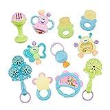 Baby-Rassel Beißring Baby-Spielzeug-Set Hand Shaker Grab-Rattle-Musik-Spielzeug-Weihnachtsgeschenk für Neugeborenes Baby und Kleinkind Dentitionspielzeug 1Set -