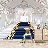 Murales Papel Pintado 450X350cm 3D Escaleras Blancas Fotos Papeles De Pared Sala De Estar Dormitorio Decoración Foto 3D No Tejido Pintura Pared Mural