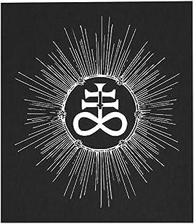 Leviathan Cross Back Patch - Demonic Baphomet Pentagram Devil Demon Dragon Evil Goat Skull Goat`s Head Gothic Metal Occult...
