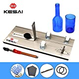 KESAI Glass Bottle Cutter Bottle Cutter Latest Version DIY Machine for Cutting Wine Beer Whiskey Alcohol Champagne to Craft Glasses Accessories Tool Kit Gloves Fixing Rubber Ring