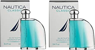 Classic for Men by Nautica 3.4 oz 100ml EDT Spray (2 Pack)