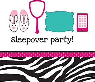 Creative Converting Pink Zebra Boutique Sleepover Lunch Napkins, 16 Count