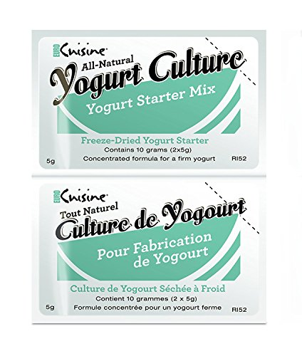 Euro Cuisine All-Natural Yogurt Culture/Starter Mix, 20 x 5 Gram Packets