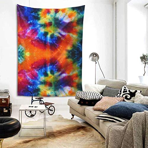 N\A Sala de Tapiz Hippie Hippie para Colgar en la Pared, Tapiz de Pared para Sala de Estar, Dormitorio Dormitorio, Dormitorio Collage, Colcha de Playa Picnic Mat (diseño de Arte Tie Dye Printing)