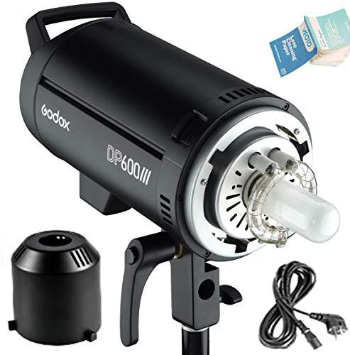 Godox DP600III Flash Studio 600Ws GN80 5600K 1s Tempo di Riciclo Rapido Sistema Wireless X 2.4G Luci Video con Lampada di Modellazione Bowens Mount 150W