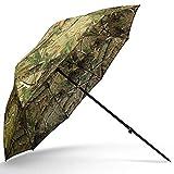 g8ds 45' Schirm Camo/Realtree mit Neigefunktion 210t Stoff Angeln Fischen Karpfen Forelle Hecht...