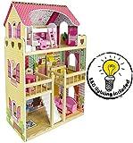 Leomark Traumvilla Holzpuppenhaus mit Möbeln Plus Doll Apart House + Weihnachtsbaum- und...