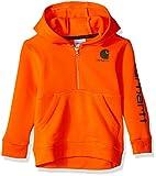 Carhartt Baby Boys Long Sleeve Sweatshirt, Blaze Orange, 6M