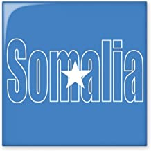 DIYthinker Somalië land vlag naam glanzende keramische tegel badkamer keuken muur steen decoratie ambachtelijke gift