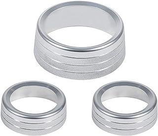 Wakauto 3 peças de ornamentos de botão de ar condicionado para interior do carro
