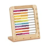B. toys by Battat B. toys – Two-ty Fruity! Wooden Abacus Toy – Classic Wooden Math Game Toy for Early Childhood Education & Development with 100 Fruit Beads