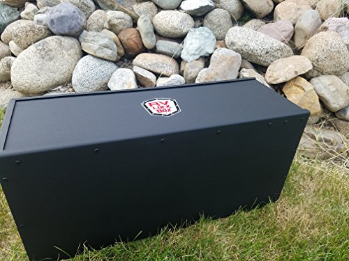 27' RV Battery Lock Box - Aluminum - Matte Black