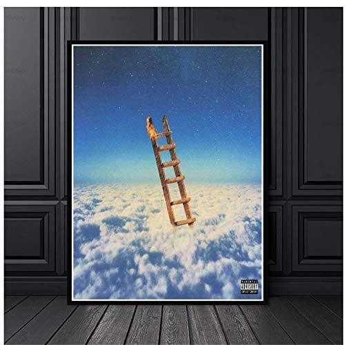 Jackboys Travis Scott, el más alto en la habitación, álbum de música rap, pintura, póster, impresión, lienzo, imagen de pared para la decoración de la habitación del hogar, 20 x 30 pulgadas, sin marco
