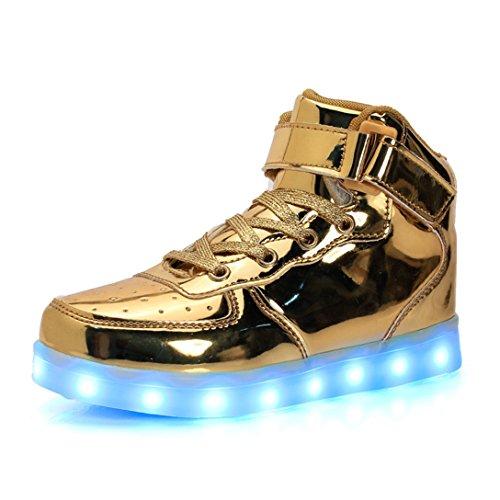 LJ Sport Zapatos LED unisex para niños y niñas, con luz superior,...