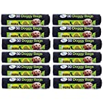600 Extra Strong TidyZ Black Doggy Waste Bags With Tie Handle 32cm x 38cm 3