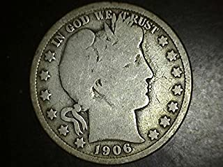 1906 Double Die Barber Half **RARE** 50c VG