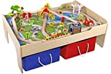 Best Train Tables - Pidoko Kids Wooden Multi Activity Play Train Table Review