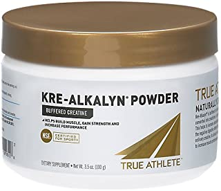 True Athlete Kre Alkalyn Helps Build Muscle, Gain Strength Increase Performance, Buffered Creatine NSF Certified for Sport (3.5 Ounces Powder)
