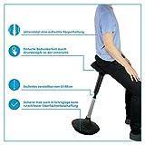 Ergotopia® Ergonomischer Bürohocker | Höhenverstellbarer Sitzhocker mit integriertem Bewegungsfeedback für dynamisches & gesundes Sitzen | Drehhocker gegen Rückenschmerzen & Verspannungen - 4