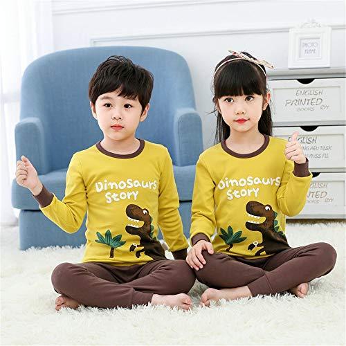 Kinder Thermo-Unterwäsche Set Jungen und Mädchen Baumwolle Unterwäsche Set Kinder Herbst Kleidung Lange Hosen Anzug Kinder Baumwolle Baby Baumwolle Unterwäsche Lange Ärmel (Color : D, Size : 110cm)