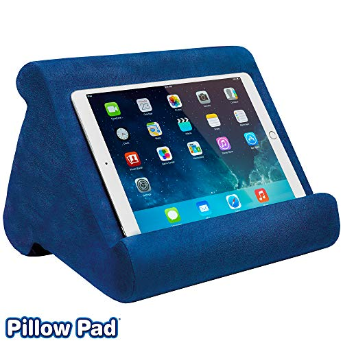 Ontel Pillow Pad Multi-Angle Soft Tablet Stand, Blue Blue Wide Angle Mini