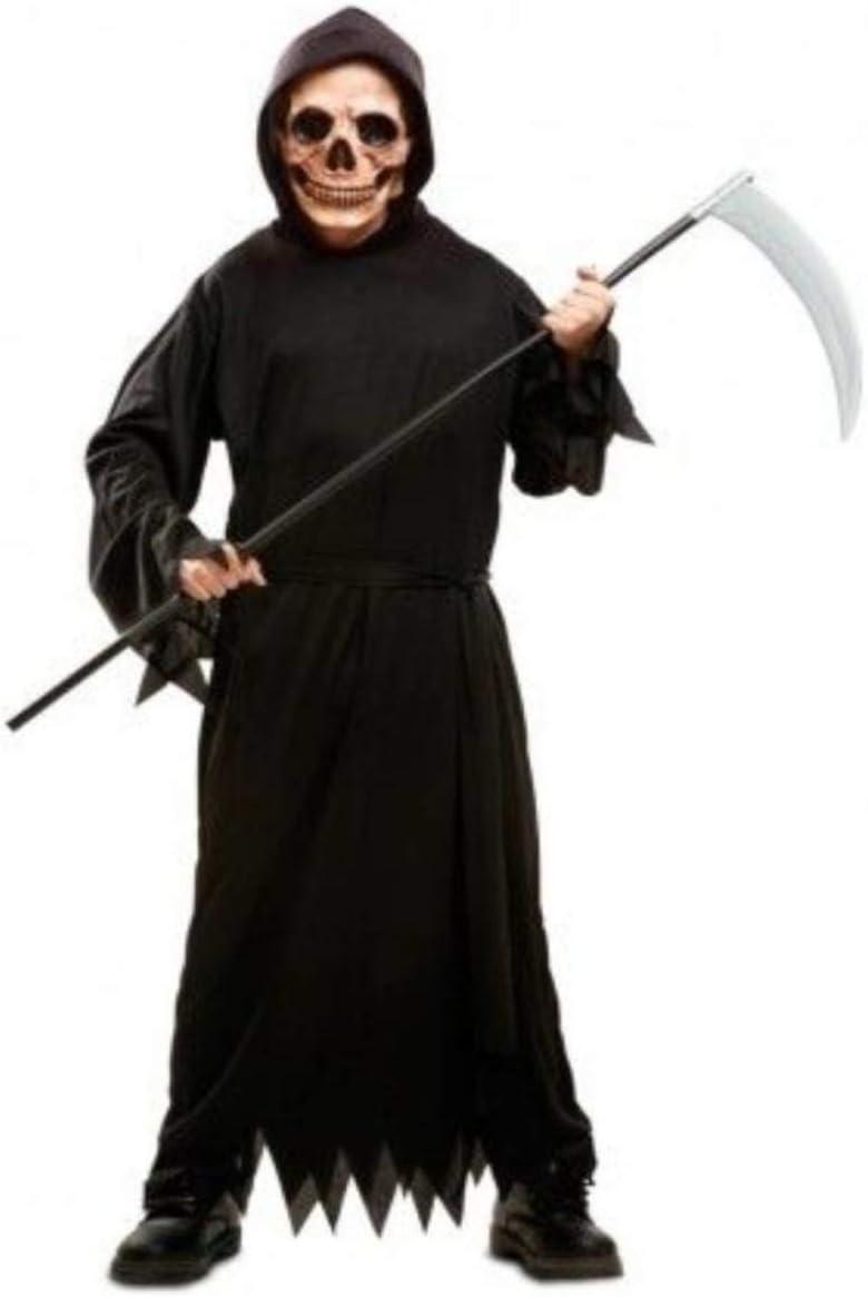 Desconocido My Other Me-201875 guerrero Disfraz de muerte tenebrosa para niño, color negro, 7-9 años (Viving Costumes 201875)