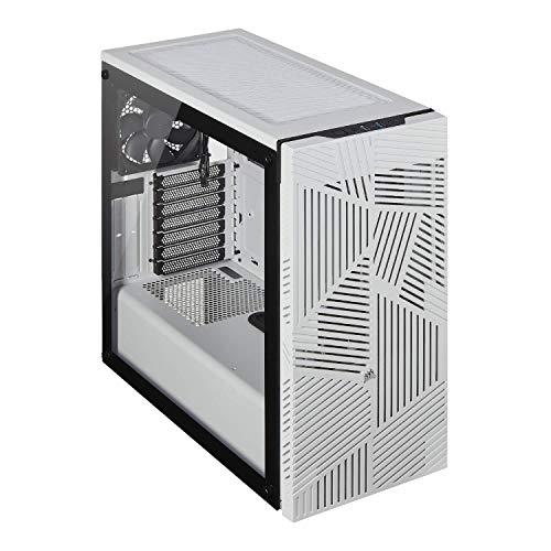 Corsair 275R Airflow Mid-Tower ATX Gaming Gehäuse (Seiten aus gehärtetem Glas, ausgestattet mit 3 120-mm-Lüftern, vielseitige Kühloptionen) weiß