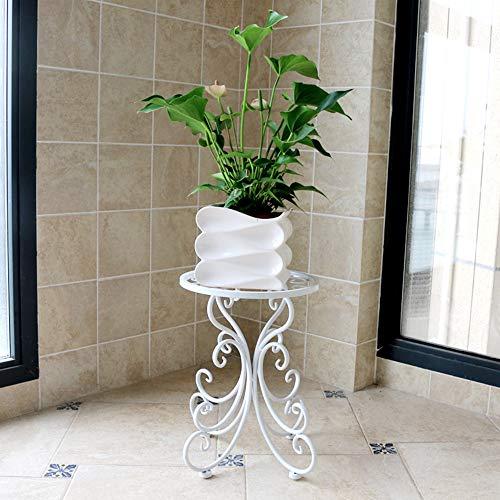 Simple Salon Moderne Fleur Stand en Fer forgé Sol-Debout charle Balcon Vert tiges Suspendus Fleur d'orchidée Pot Fleur étagère,B,1