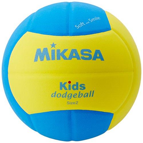 ミカサ(MIKASA) スマイルドッジボール 2号(小学生~幼児向け) 160g 黄/青 SD20-YBL
