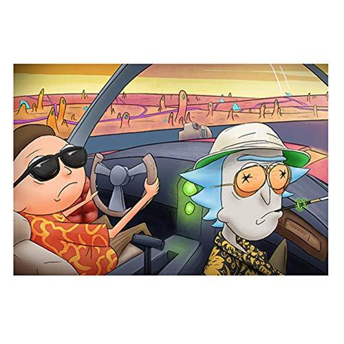 VAST Rompecabezas for niños for niños, Dibujos Animados y Rick Morty Animado Tilo Rompecabezas, Fit 300 ~ 1000 Piezas en Caja Juguetes Arte del Juego 523 ( Color : C , Size : 1000pc )