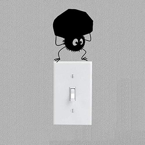 Schalter Aufkleber , Lustige Ghibli Schalter Aufkleber , Vinyl Schalter Dekoration Wohnzimmer Dekoration Wandtattoo